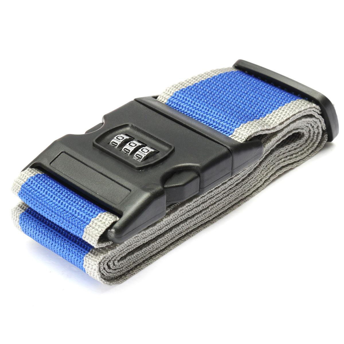 FGGS Safety belt Belt Lock Combination Travel Luggage Suitcase band color Blue Grey