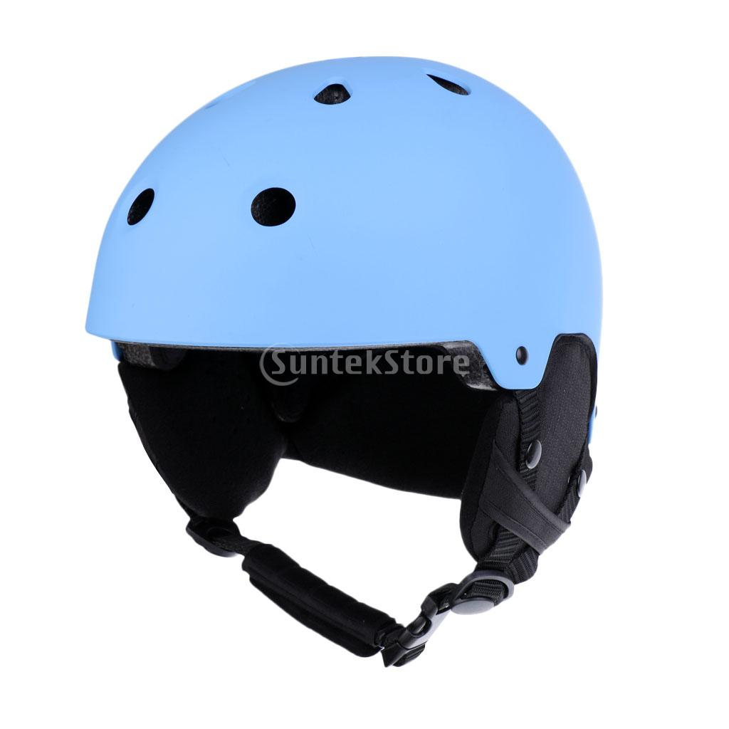 Unisex Adult Ski Helmet Windproof Lightweight Professional Outdoor Skateboard Snowboard Snow Sports Safety Helmet Matte Blue giro bevel snowboard helmet matte titanium mens