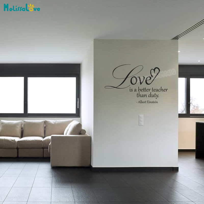 Vinyl Wall Decal Sticker Einstein Love Quote Simple Art Home Decoration For Living Room Bedroom Removable Art Murals Gift YT206