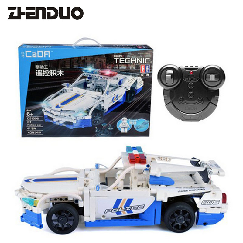 ZhenDuo Toys C51006 Marvel Technic Charging Remote Control RC Car Building Block Brick Toy technican technic 2 4ghz radio remote control flatbed trailer moc building block truck model brick educational rc toy with light
