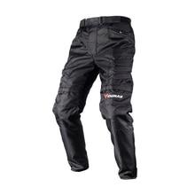 Брендовые мотоциклетные защиты для верховой езды черные брюки Духан Ткань Оксфорд Moto Водонепроницаемый Windpoof Мотобрюки с наколенники для Для мужчин