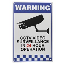 Safurance CCTV Warning Security Video Surveillance Camera Safety Security Sign Reflactive Metal