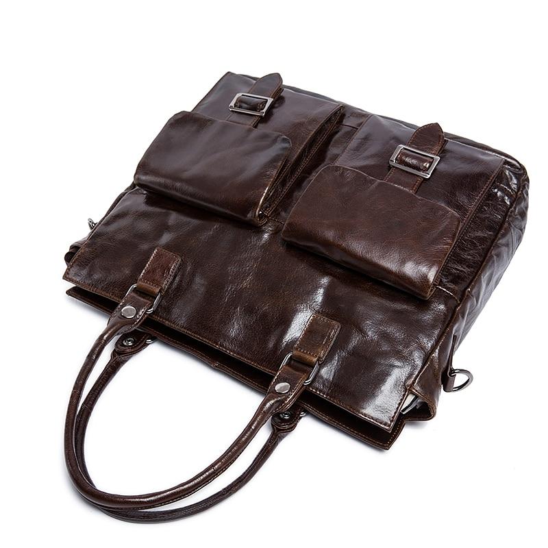 Leder Taschen Männlichen Laptop Umhängetasche Schulter Echtem Männer coffee Für Messenger 2018 Gray Aktentasche Handtasche Business Norbinus EqPSwq1