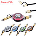 Dream V Life 2016 High Quality 1PCS V8 For Samsung Galaxy Micro USB Type C Combo Male Retractable Data Charging Cable   Nov 4