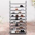 Casa portátil 5/8/10 zapatos zapatos del organizador del almacenaje del soporte del estante tier furniture