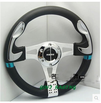 Leder auto lenkrad mit pvc + leder 13 ''/320mm universal-automotive racing lenkung-wheels volante esportivo