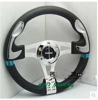 leather car Steering wheel with pvc +leather 13''/320mm universal automotive racing steering-wheel wheels volante esportivo
