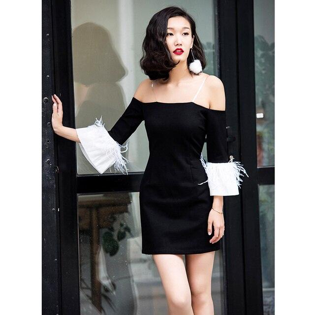 Herbst 2017 mode colorblock schwarz weiß federn manschetten ...