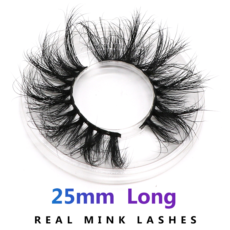 AHT 25mm Long Natural False Eyelashes Thick Faux Mink Lashes Eyelash Extension Supplies(China)
