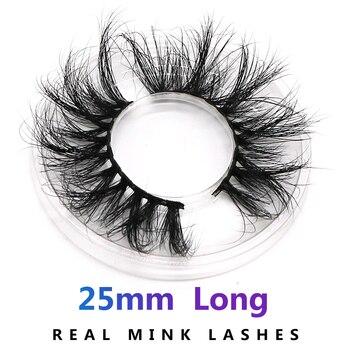 AHT 25mm Long Natural False Eyelashes Thick Faux Mink Lashes Eyelash Extension Supplies