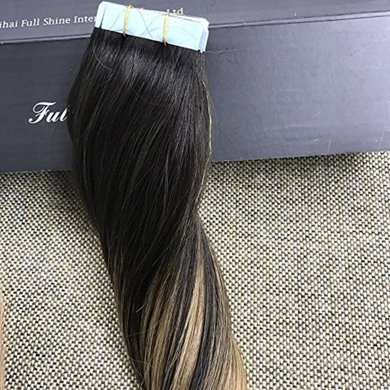 Full Shine High Quality Peruvian Balayge Remy Hair Glue In Real Hair