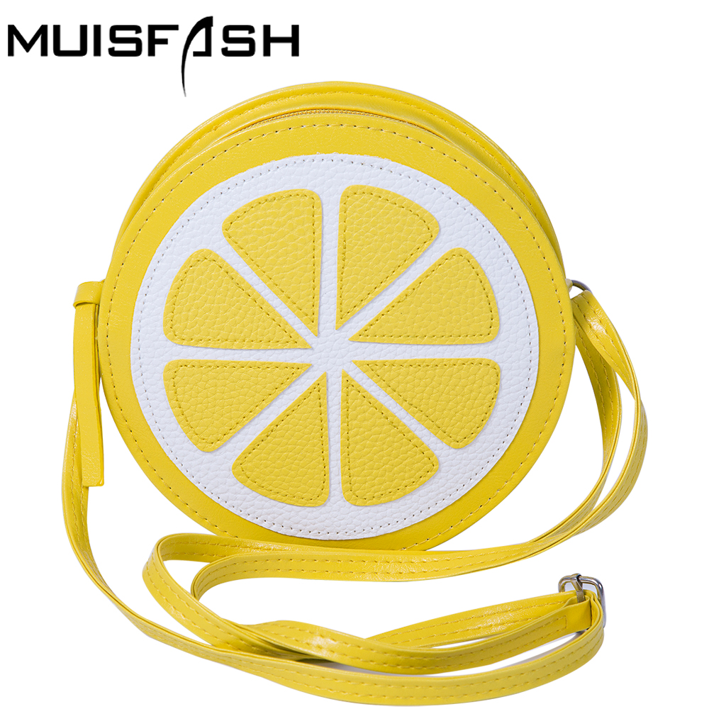 Fashion Women Messenger Bags Small Shoulder Bag Lemon Shape Handbag Women Bag Mini Circular Crossbody Bag Bolsa Feminina LS1021 2016 fashion women bag women handbag women messenger bags 1stl