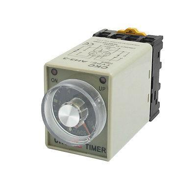 AH3-3 110VAC Power On 0-10s 10 Seconds Delay Timer Time Relay w Base