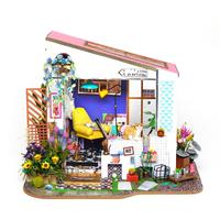 DIY Toy House Lily Porch Handmade Wood Art House Model Doll House Exquisite Decoration Children's Educational Handmade Toys