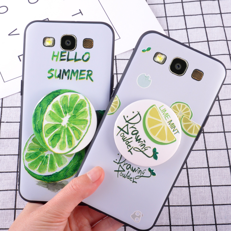 Matte Case For Samsung Galaxy S5 SV Summer Fruit Lemon Pattern Cell Case For Samsung Galaxy S4 S3 Phone Back Cover
