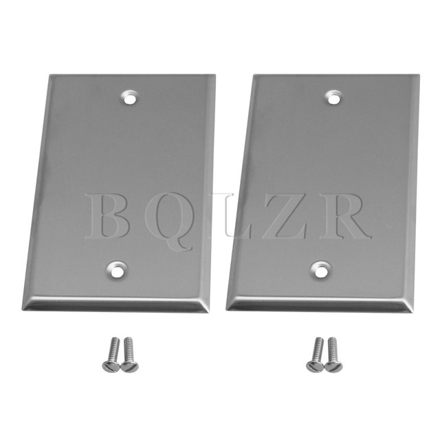 Bqlzr 1 Gang Blank Stainless Steel Wall Plate Outlet Cover For