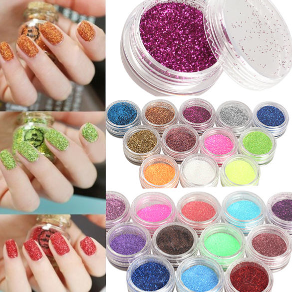 Detail Feedback Questions About 24 Colors Nail Art Glitter Powder Dust For Uv Gel Acrylic Decoration Tips Color On Aliexpress
