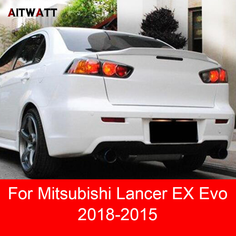 Boyasız Spoiler Astar Renk Mitsubishi Lancer EX Için Evo 2008 2009 2010 2011 2012 2013 2014 2015 ABS Plastik Arka bagaj Kanat