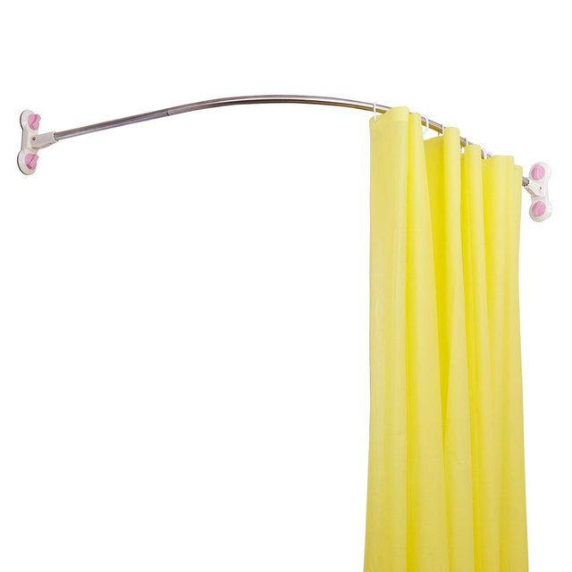 Curved Corner Shower Curtain Rod Bathroom Arched Shower Bath Rail