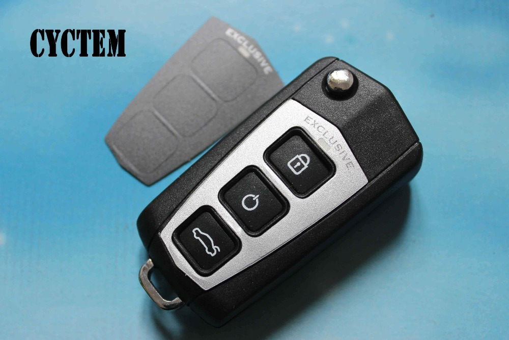 CYCTEM Car Key Fob Shell Replacement Fit For Kia Cerato 4