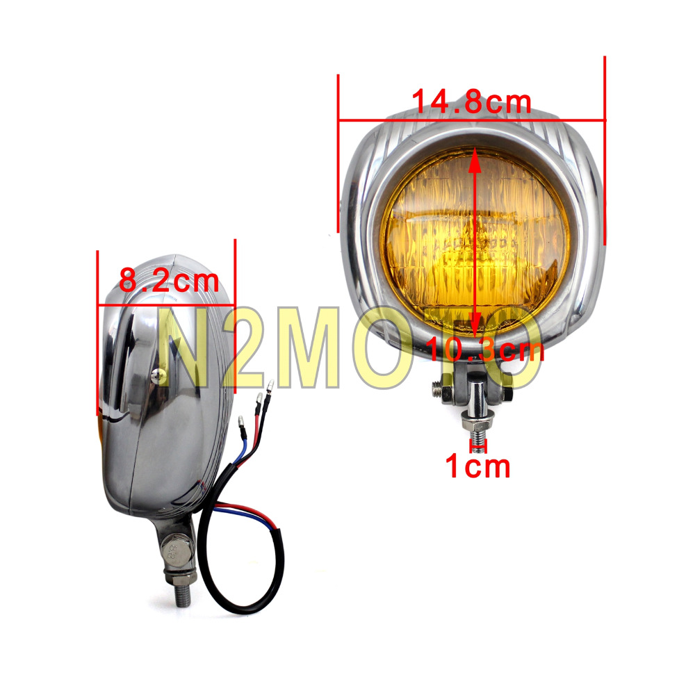 Sealed Beam 45 Motorcycle Polish Headlight Retro Head Light For Way Connector Wiring Products Harley Softail Road King Cafe Racer Bobber Chopper On Alibaba Group