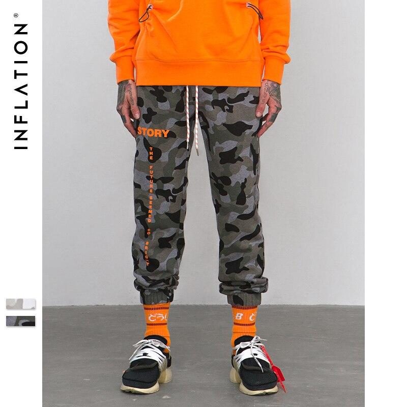 Мужские спортивные штаны с эластичной резинкой на талии, камуфляжные повседневные штаны для бега в стиле хип-хоп, уличные Мужские штаны 8890 В...