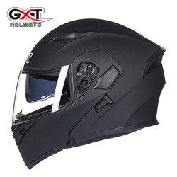Горячая Распродажа GXT 902 moto rcycle откидной шлем модульный шлем мото велосипедные шлемы черный солнцезащитный козырек безопасность двойной об...