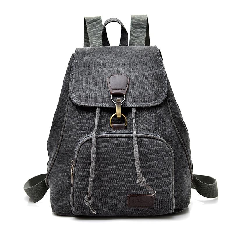 8038979e694e 2018 Women Fashion Canvas Backpacks School Bags For Teenagers Girls Travel  Female Backbag Mochila Rucksack Grey Black Packbags
