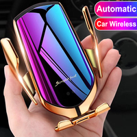 Car Wireless Charger Holder For iPhone X XS XR 8 Plus Mount 10W Qi Fast Charging Auto Clamp Wireless Car Phone Charger Suction