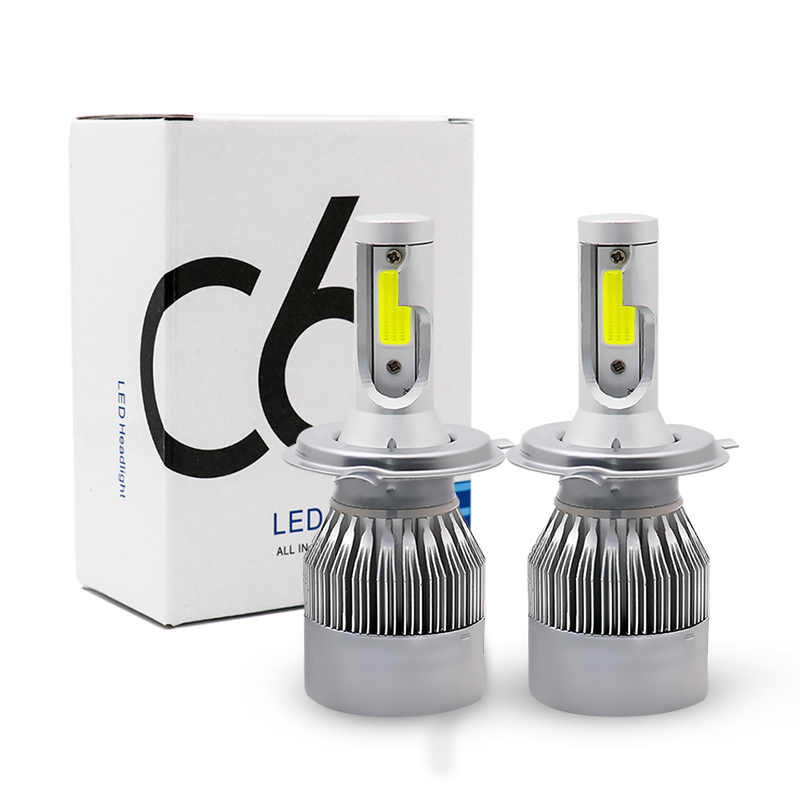 2 PCS Car H4 LED H7 Headlight Bulbs H1 H3 H11 880 9005 Hb3 9006 Hb4 Headlamp Kit 12V 72W 3800LM IP68 Auto C6 LED Lamp Light Bulb