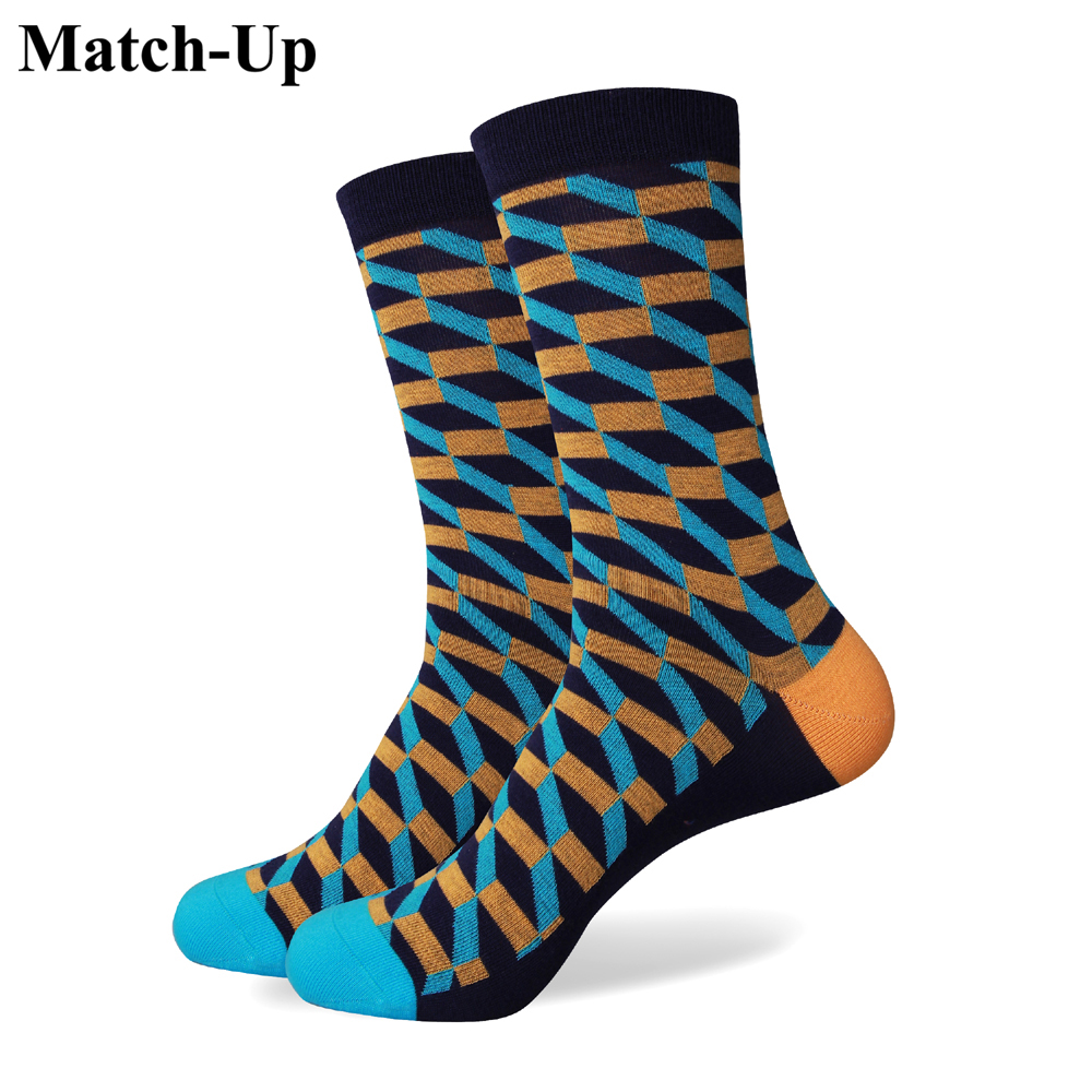 Match-Up  men colorful combed cotton socks 280