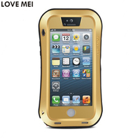 For Apple IPhone 5 5S 5G Waterproof Shockproof Case LOVE MEI Powerful Life Gorilla Toughened Glass
