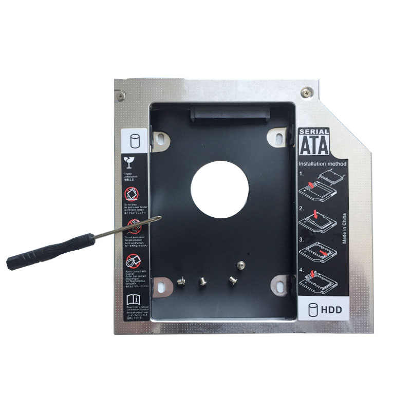 2nd 12.7 millimetri SATA Hard Drive HDD SSD Caddy adattatore Per Asus K42DY K42JA K42JC K42JP K42JR K43SD K52J (regalo drive Ottico lunetta)