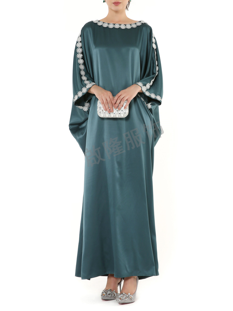 new arrival muslim islam silk dress for