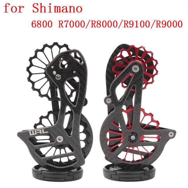 Road Bicycle 17T Bike Carbon Fiber Ceramic Rear Derailleur Pulley for Shimano 6800 R7000/R8000/R9100/R9000 Cycling Accessories-in Bicycle Derailleur from Sports & Entertainment