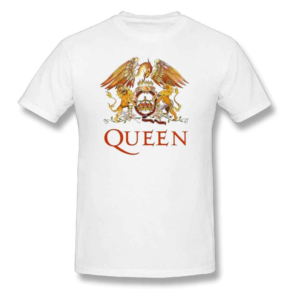 ... Queen Band Rock T Shirt LOGO Funny T-Shirt Men Short Sleeve Cotton Tee  Shirt ... d90bc708ce3d