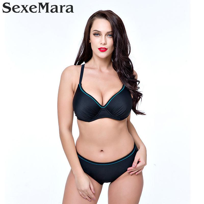 2017 Swimwear Women Sexy Plus Size Swimsuit Fat Wear Large Size - Sportswear and Accessories - Photo 6