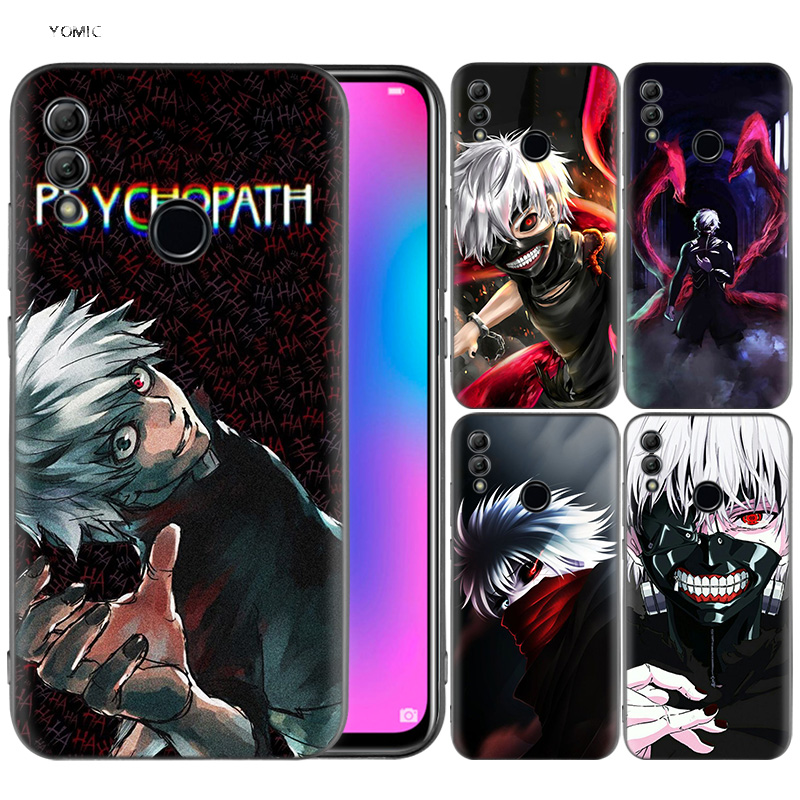 US $2 17 45% OFF|Silicone Cover Case for Huawei Honor 10 9 Lite 8X 8C 8A Y6  Y7 Y9 7A Pro Prime 7C 2018 2019 V20 Tokyo Ghoul Root A kaneki-in Fitted