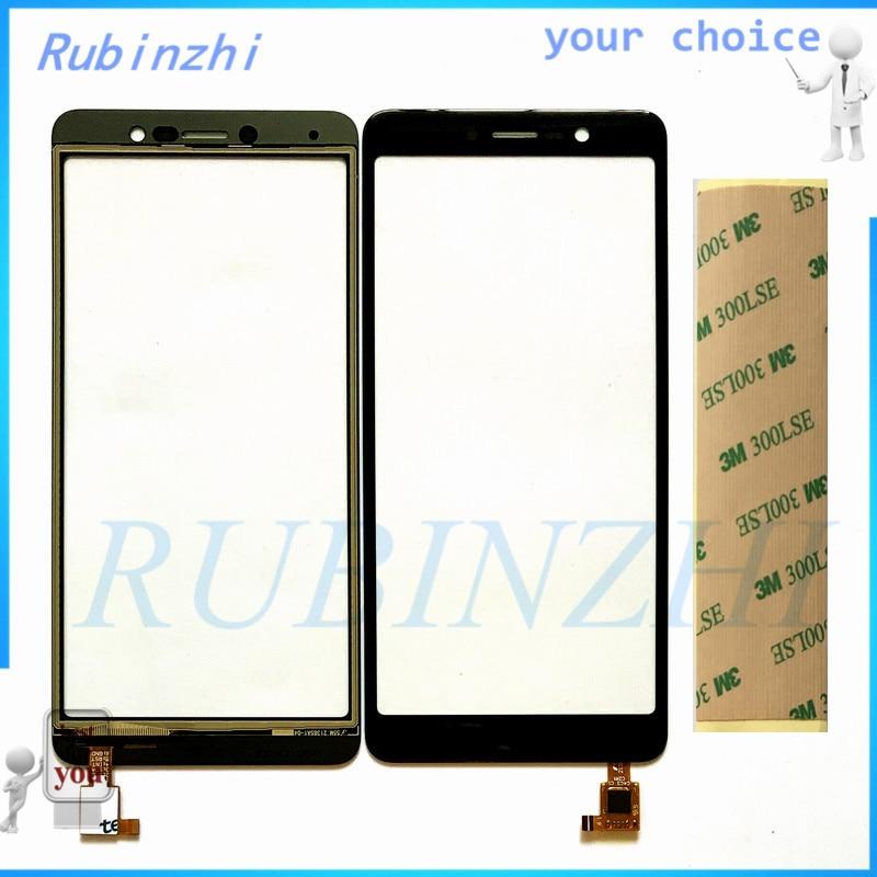 RUBINZHI Free 3M Tape Touch Screen For BQ BQ-5508L BQ 5508 BQS 5508L Next LTE Front Glass Touchscreen Sensor Digitizer Panel