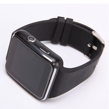 Nuevo Reloj Inteligente Bluetooth X6 Smartwatch reloj del deporte Para el iphone de Apple Android Teléfono Con Cámara FM Soporte de Tarjeta SIM