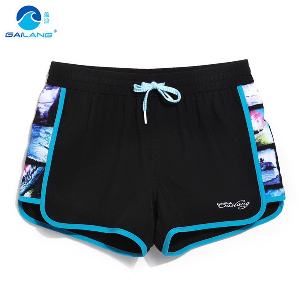 Gailang Brand Women Beach Board Shorts Breathable Active Shorts Jogger Sweatpants Woman Quick Drying Boxer Trunks  GWA1004