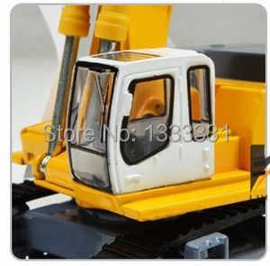 Gratis pengiriman kualitas tinggi diecast model anak mobil mainan rekayasa kendaraan crawler excavator 1: 87 kaidiwei serupa untuk siku