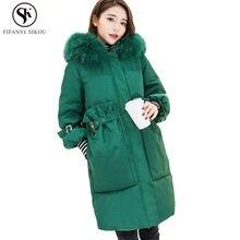 72901777fef Vers le bas Parka femmes longue Doudoune d hiver Doudoune Femme épais  vêtements d extérieur chauds mode grand col de fourrure à .