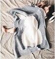 Inverno Cobertor Do Bebê Recém-nascido Swaddle Cobertores Coelho Cama Cama Capas bebe de Cobertura Crianças Malha Ar Condicionado Cobertor