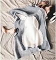Invierno Manta de Bebé Recién Nacido Swaddle Mantas Conejo de Punto de Cobertura de Cama ropa de Cama Cubre bebe Niños Aire Acondicionado Manta