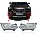 Qualidade Asssured Para Hyundai Santa Fe 2013 IX45 2014 2015, ABS À Prova D' Água Super Brilho 12 V Carro DRL LEVOU Luz de circulação Diurna