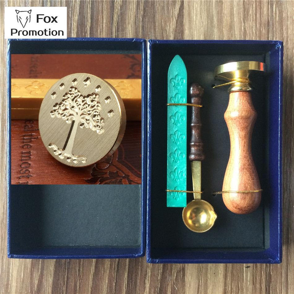 New Hot Lord of the ring wax seal stamp wax spoon gift box,ScrapbookingDIY Ancient Seal Retro Stamp,Vintage Gift high quality creative wax envelope set literary romantic gift confession artifact the new year wedding gift