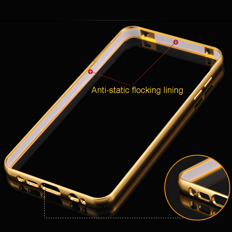 on sale c0c15 434a7 US $3.64 |Luxury slim case For Samsung Galaxy A5 (2016) A510 A510F metal  aluminum frame mirror back cover phone bag Protective Cover on  Aliexpress.com ...