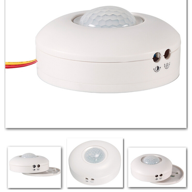 AC110V-220V Voltage 3 Wire White HS-MS001 Motion Sensor Light Switch silent wire ac 44 ag powercord 1 5m