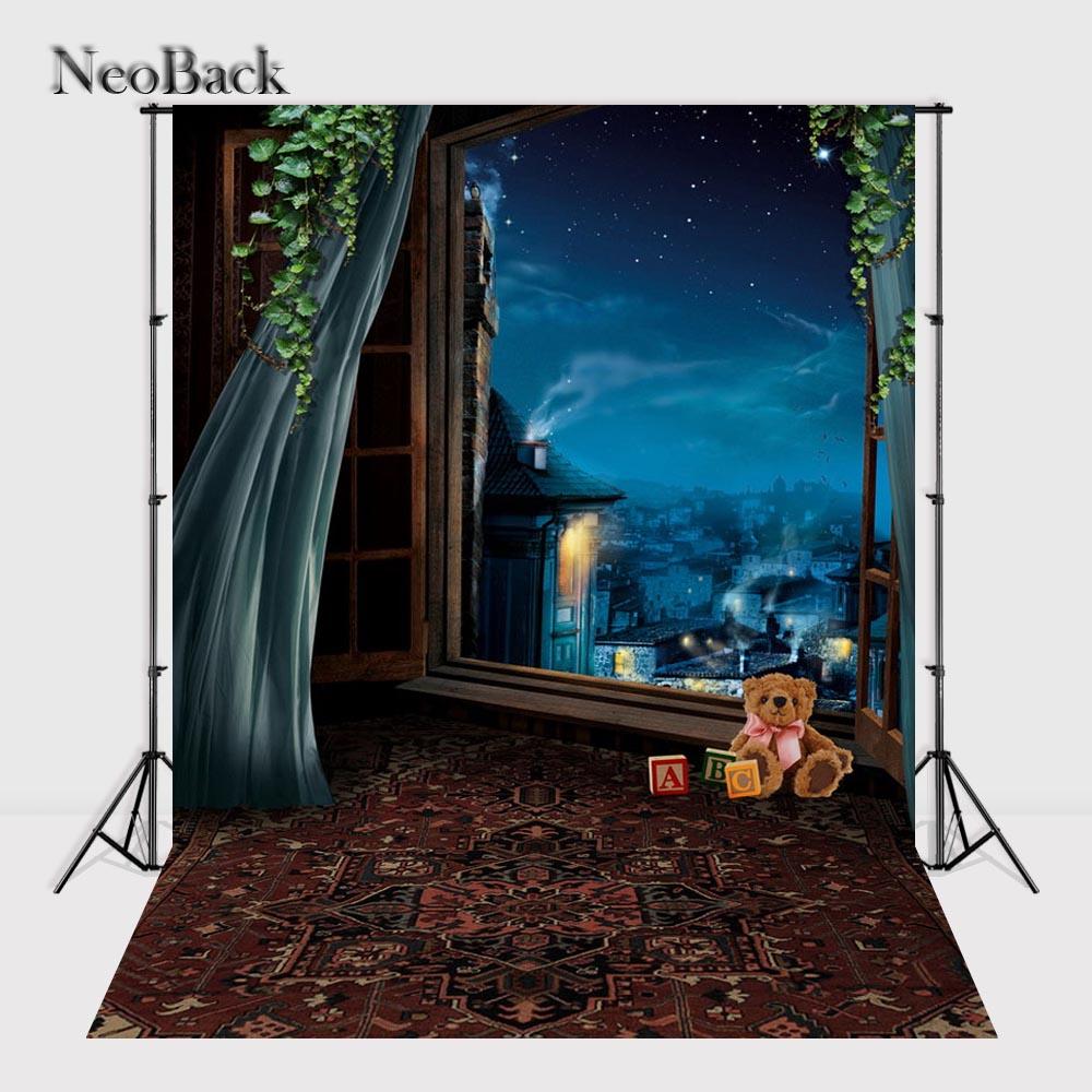 NeoBack 5x7ft Vinyl cloth New Born Baby Star Nite Photo Backdrop children kids backdrops Printing Studio Photo backgrounds P1597